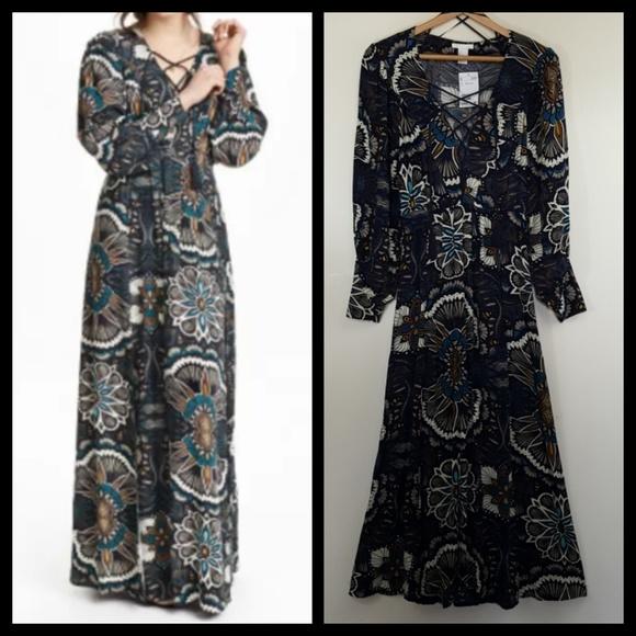 H&M Dresses & Skirts - H&M Festival Boho 70's Style Maxi Dress Sz 4
